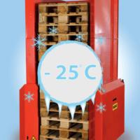pallet handling in koude omgevingen tot -25 ° C.