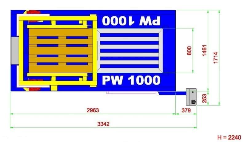 tekening palletwisselaar pw 1000