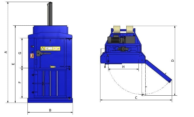 baler 75 drawing
