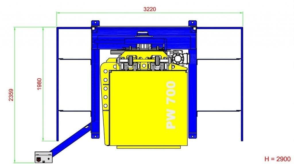 tekening palletkantelaar PW 700
